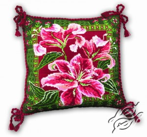 Cushion with Lilies