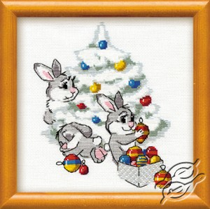 Rabbits And A Christmas Tree