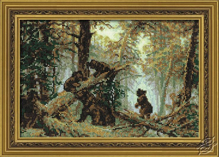Вышивка крестом картина в картине
