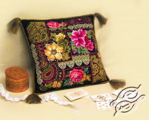 Cushion With Flower Arrangement