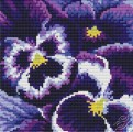 Cushion With Pansies IV