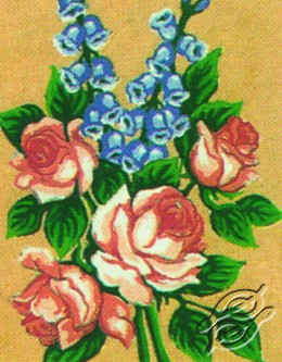 3.114 Roses With Bluebells