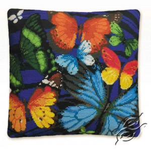 Cushion With Butterflies I