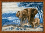 The Elephants In The Savannah