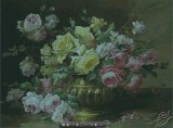 Roses in a Brass Vase