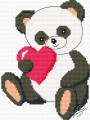 Panda With Valentine's Day Card