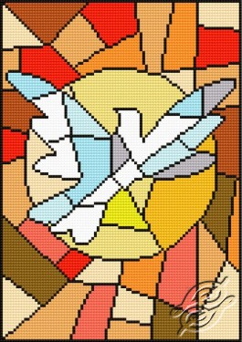 Stained-glass window - Dove