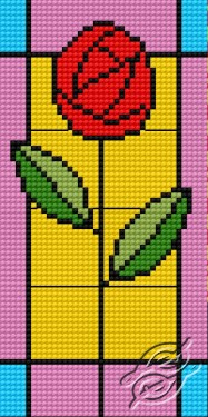 Stained Glass With Rose