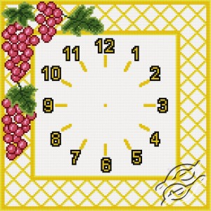 Clock With Grapes