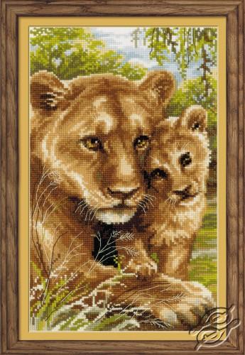 CROSS STITCH KITS - RIOLIS - Cross Stitch Kits - Animals - Lioness