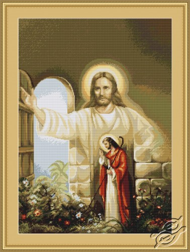 Jesus Knocking at the Door  sc 1 st  Gvello Stitch & CROSS STITCH KITS - LUCA-S - Religion - Jesus Knocking at the Door ... pezcame.com