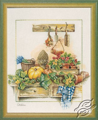 Cross Stitch Kits Lanarte Home And Garden Work Bench