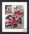 Composition of Pink Lilies