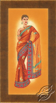 Cross Stitch Kits Lanarte Cultures Indian Lady In