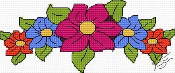 FREE PATTERNS Flowers Gvello Stitch Beauteous Cross Stitch Flower Patterns