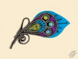 Brooch Peacock Feather