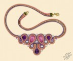 Soutache necklace - Drops