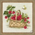 Basket with Raspberries