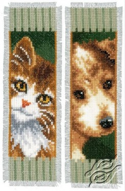 Bookmark - Cat and Dog