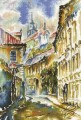 Watercolor Prague