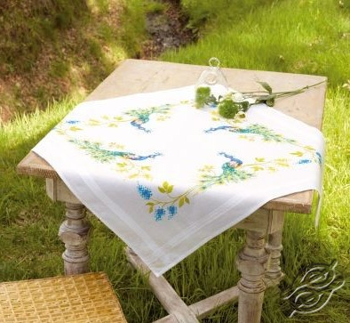 Sunflowers Vervaco PN-0021761 Cross Stitch Kit Tablecloth