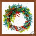 Winter Wreath with Blue Spruce