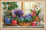 Windowsill with Flowers