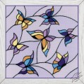 Cushion/Panel Stained Glass Window. Butterflies