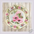 Plate with Pink Poppies