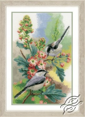 Chickadees & Blossoms
