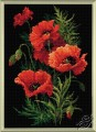 Diamond Mosaic Poppies