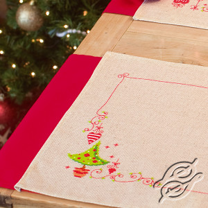 Placemat Christmas Tree and Hearts