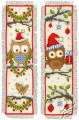 Owls in Santa Hats